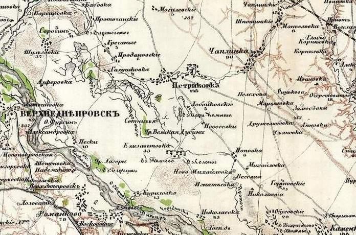 Карта Стрільбицького 1871 рік, видання 1919 р.
