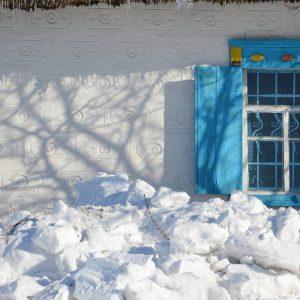 Зима на хуторе Галушковка. Музей Креста