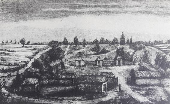 Старовинний малюнок запорозького зимівника